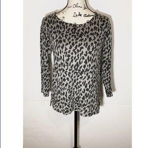 Joie Cheetah Sweatshirt 3/4 Sleeve
